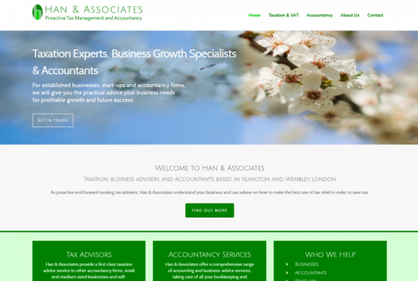 New Website Design Accountancy London