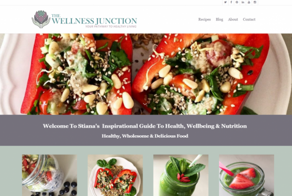 New Website Design Food Blog