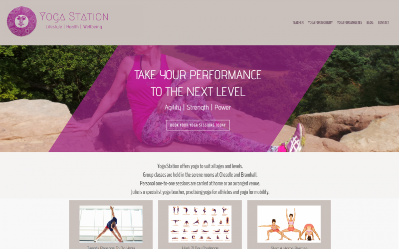 New Website Design Yoga Cheadle