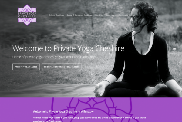 New Website Design Yoga Cheshire